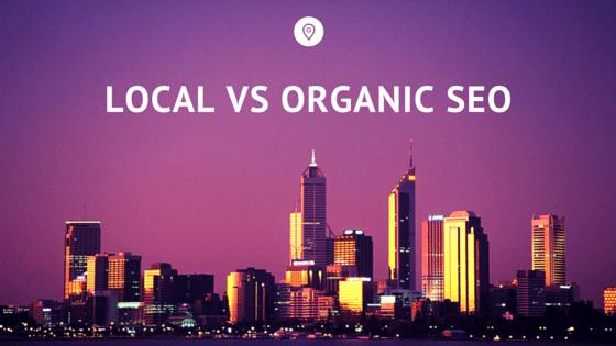 local vs organic seo